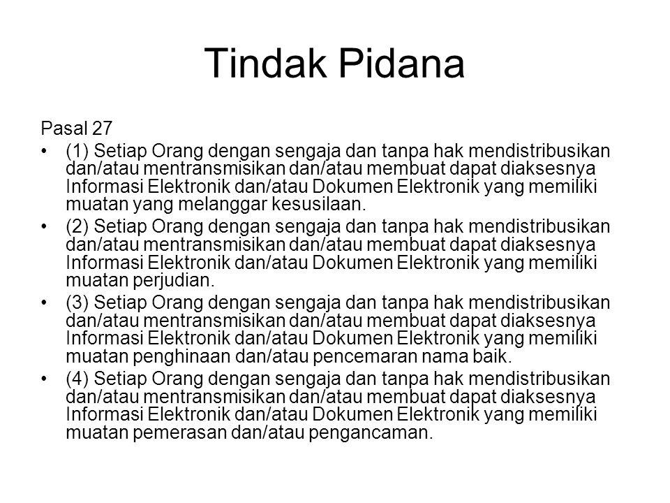 Tindak Pidana Pasal 27.