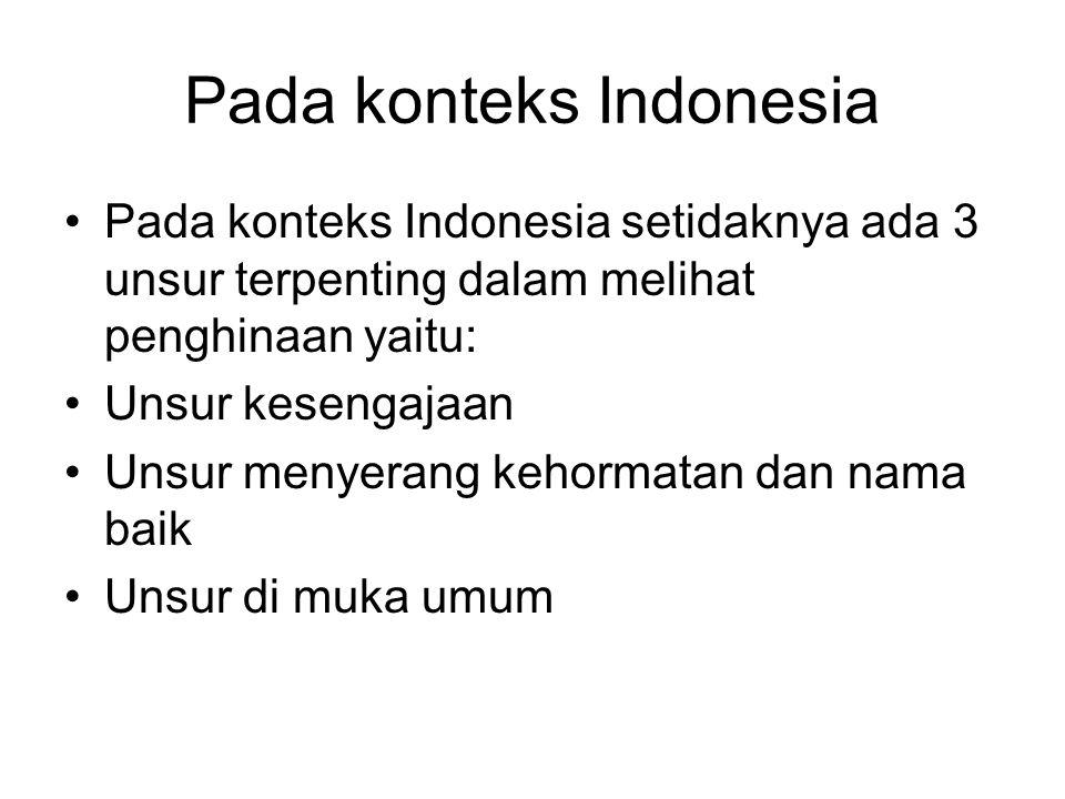 Pada konteks Indonesia
