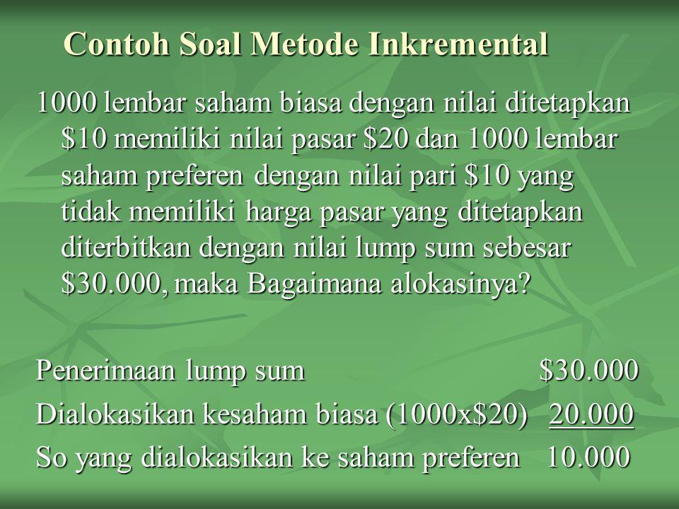 Contoh Soal Metode Inkremental