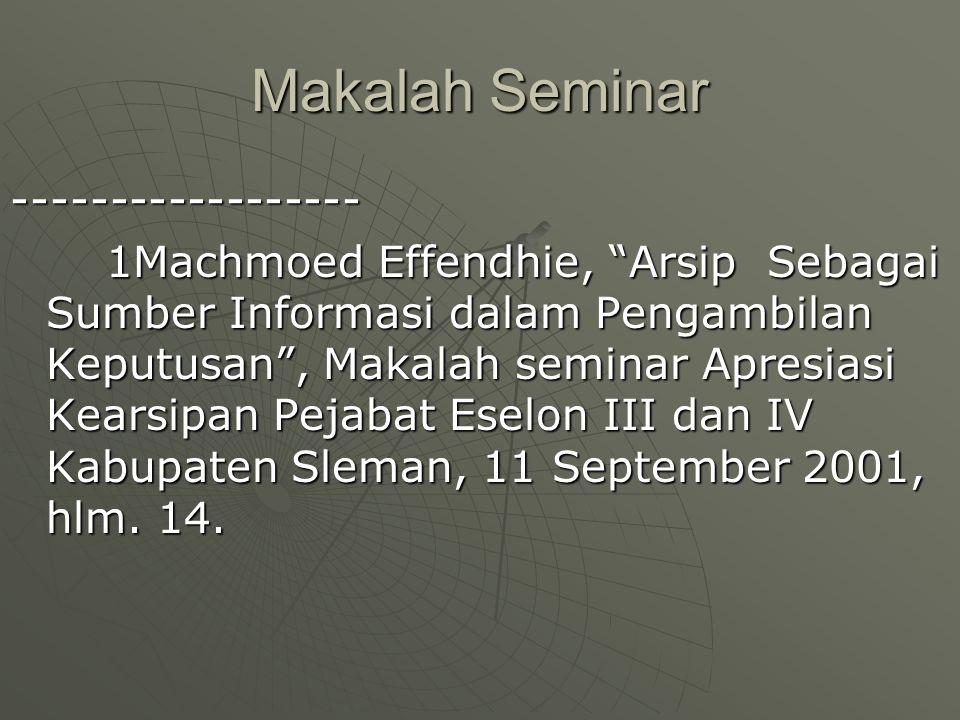 Makalah Seminar ------------------