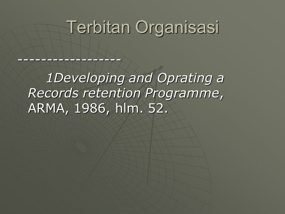 Terbitan Organisasi ------------------