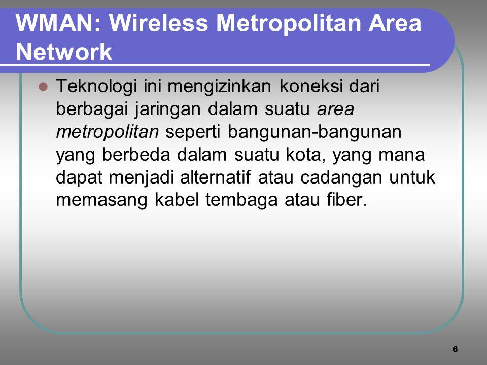 WMAN: Wireless Metropolitan Area Network