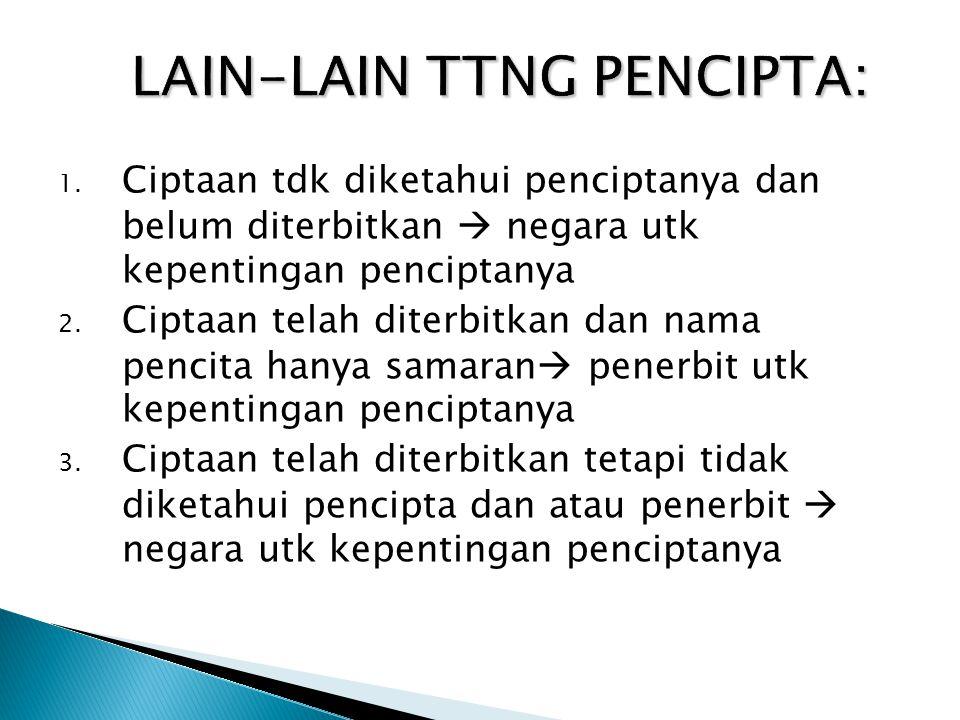 LAIN-LAIN TTNG PENCIPTA: