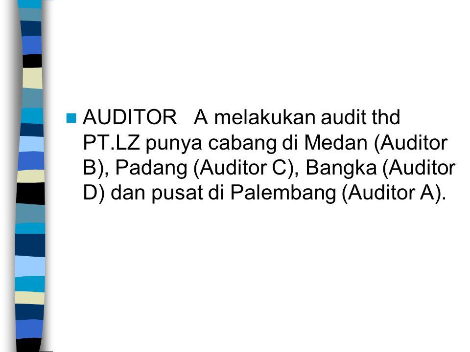 AUDITOR A melakukan audit thd PT