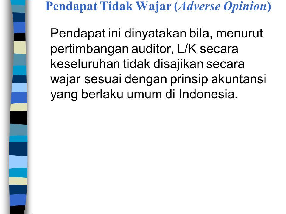 Pendapat Tidak Wajar (Adverse Opinion)