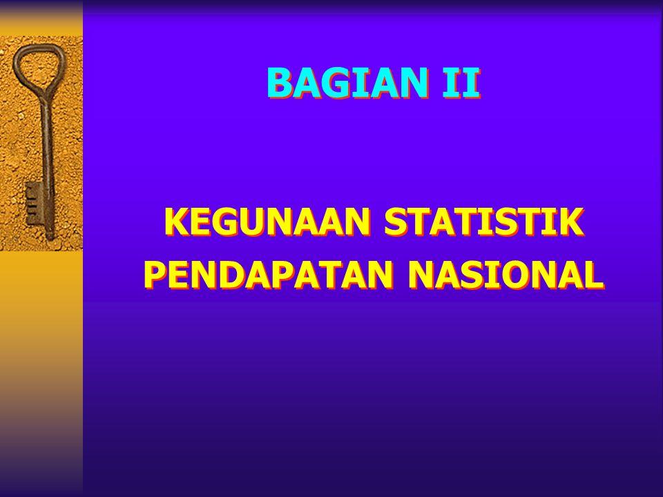 KEGUNAAN STATISTIK PENDAPATAN NASIONAL