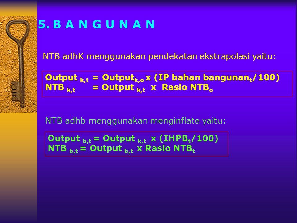 B A N G U N A N NTB adhK menggunakan pendekatan ekstrapolasi yaitu: