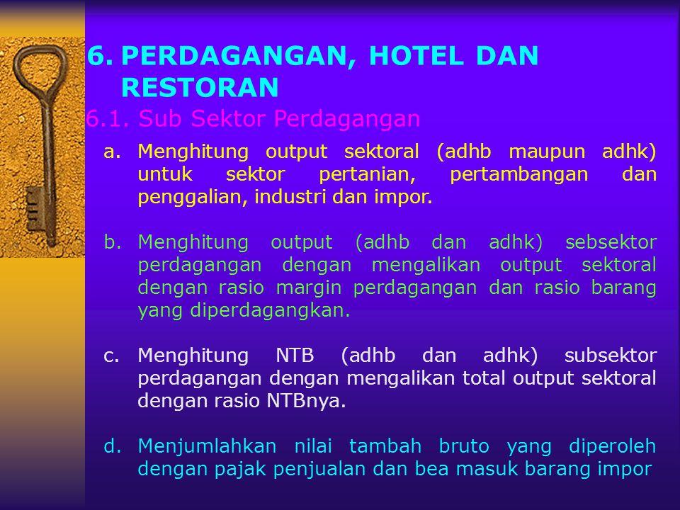 PERDAGANGAN, HOTEL DAN RESTORAN