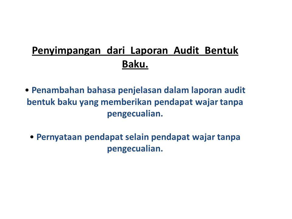 Penyimpangan dari Laporan Audit Bentuk Baku.