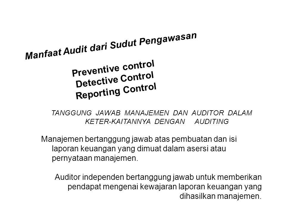 Manfaat Audit dari Sudut Pengawasan