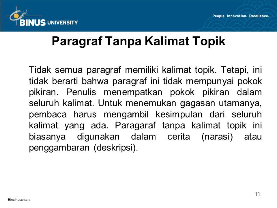 Paragraf Tanpa Kalimat Topik