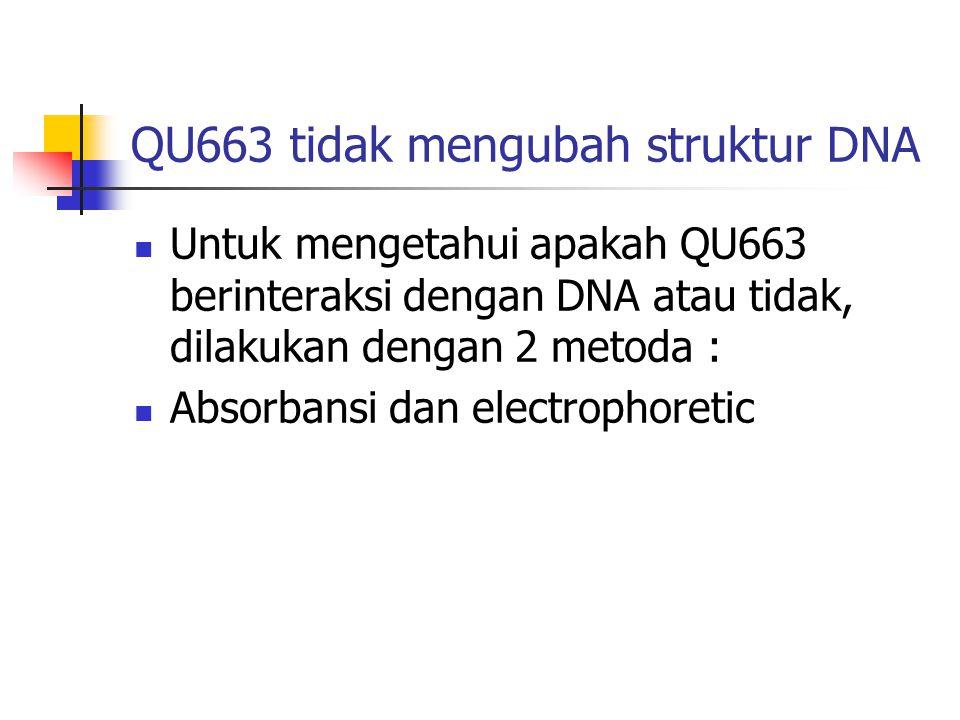 QU663 tidak mengubah struktur DNA