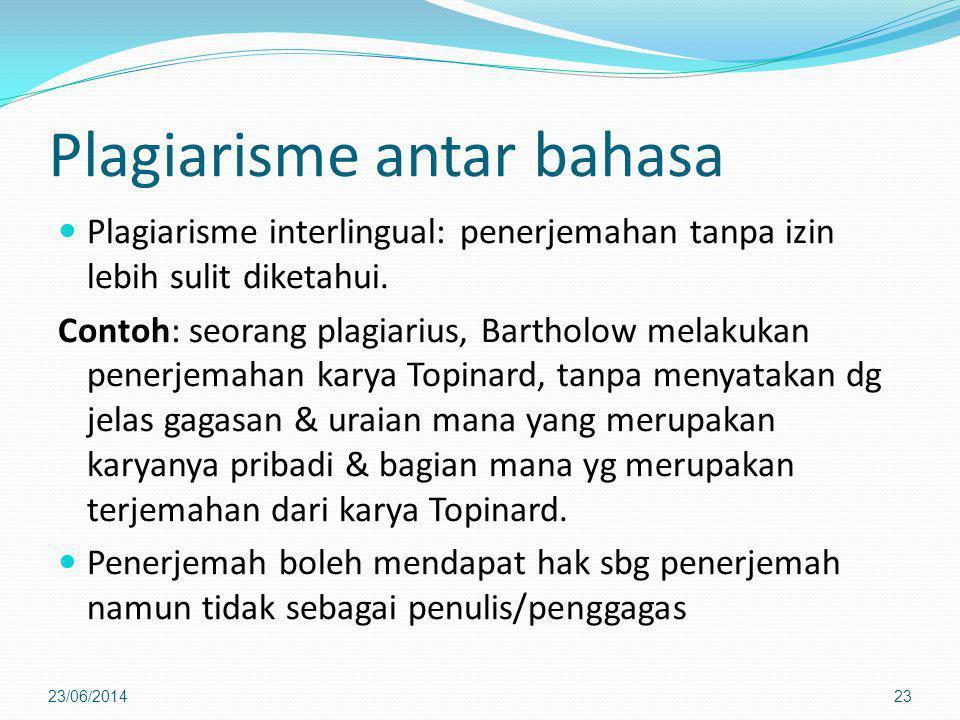 Plagiarisme antar bahasa