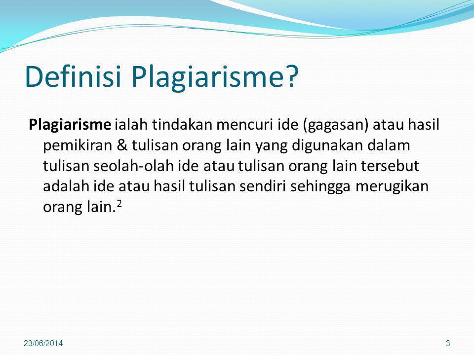 Definisi Plagiarisme