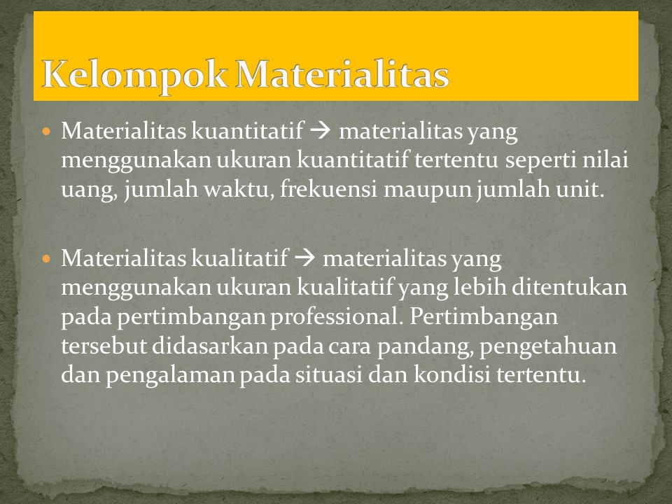Kelompok Materialitas
