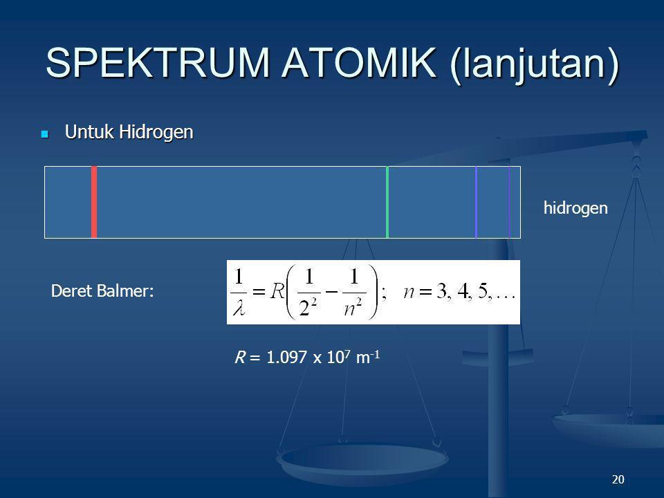 SPEKTRUM ATOMIK (lanjutan)