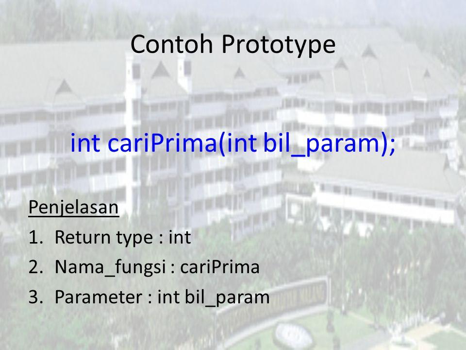 int cariPrima(int bil_param);