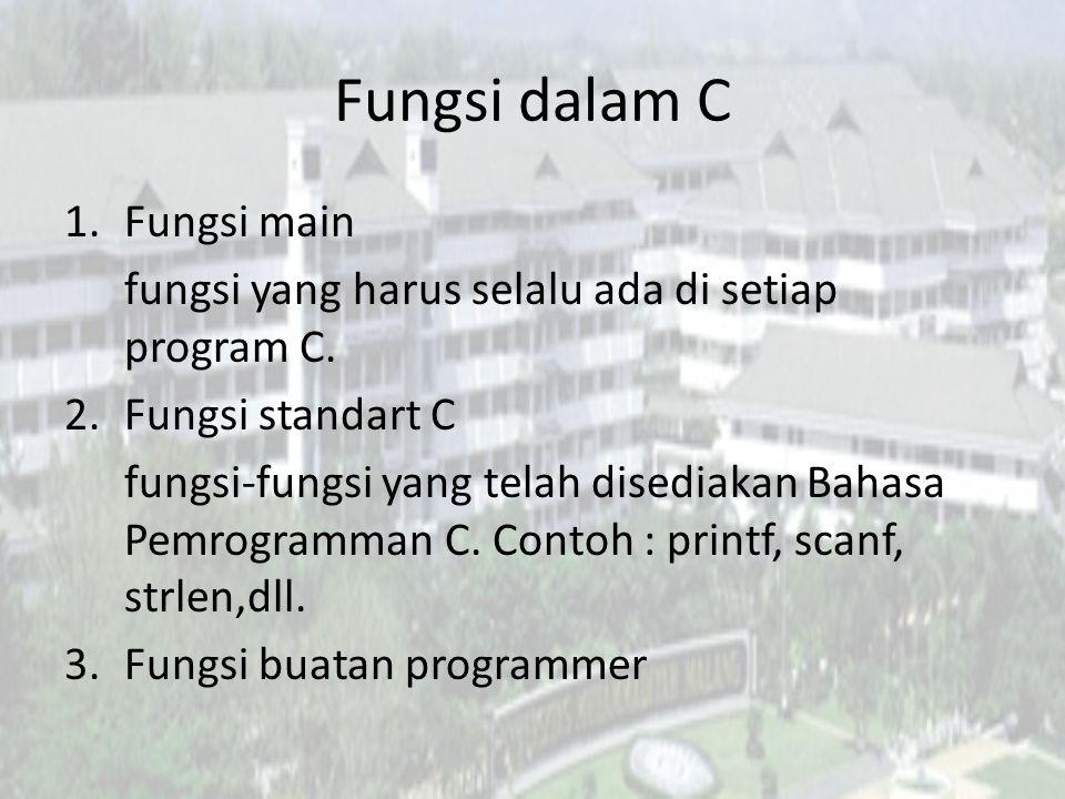 Fungsi dalam C Fungsi main