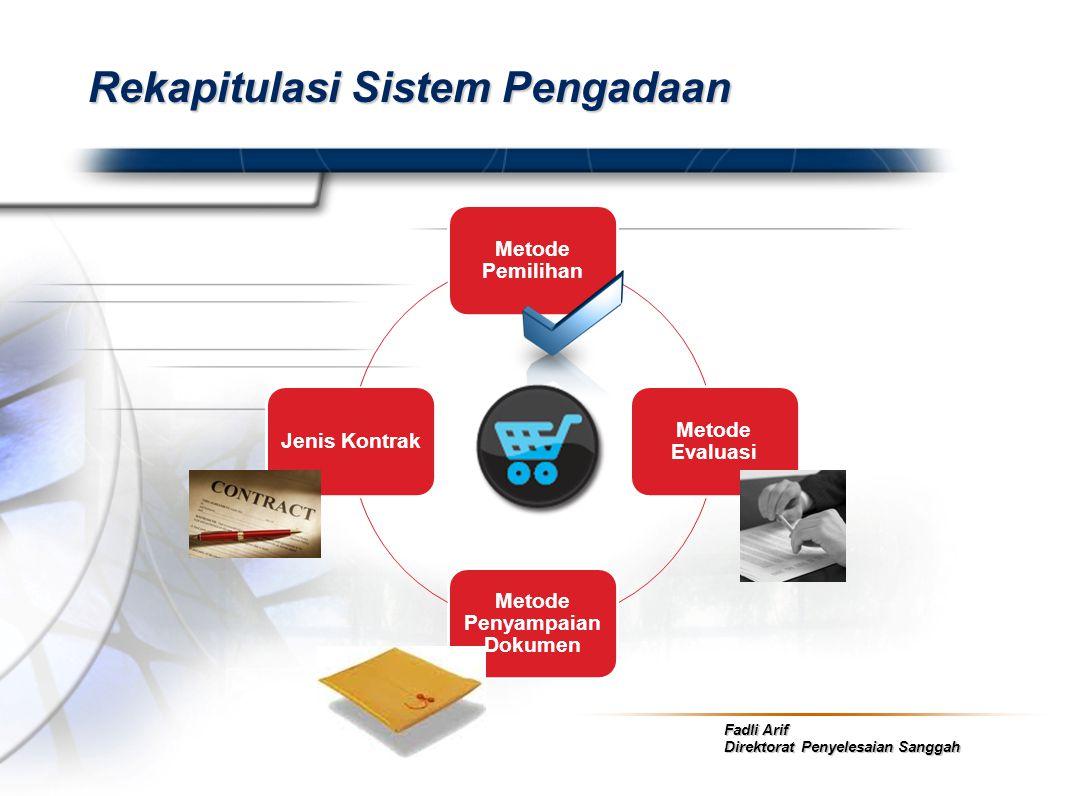 Rekapitulasi Sistem Pengadaan