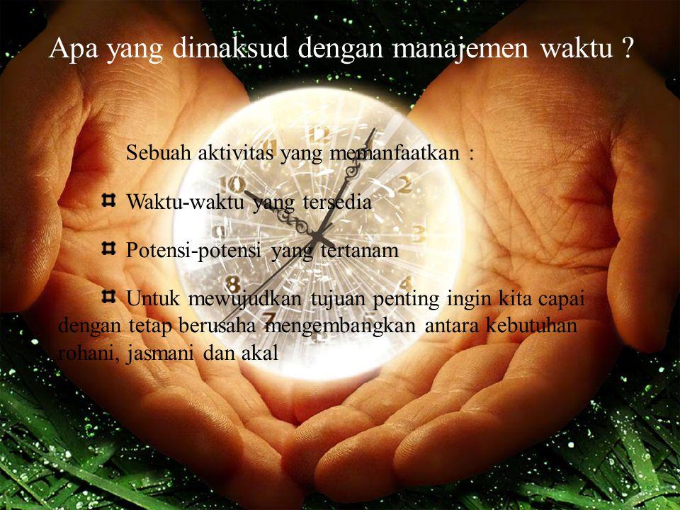Apa yang dimaksud dengan manajemen waktu