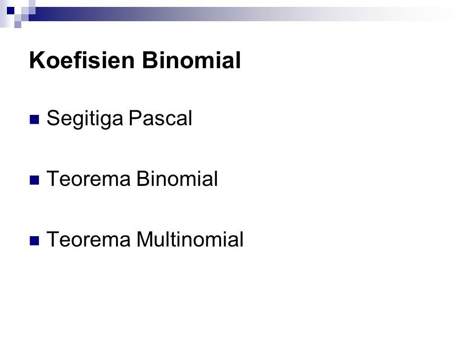 Koefisien Binomial Segitiga Pascal Teorema Binomial