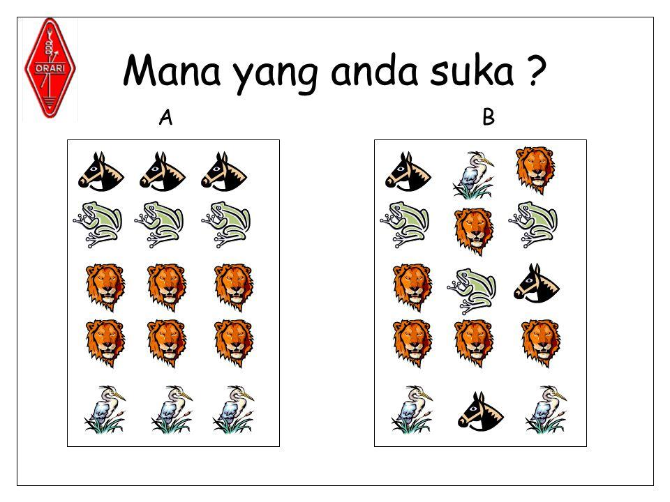 Mana yang anda suka A B