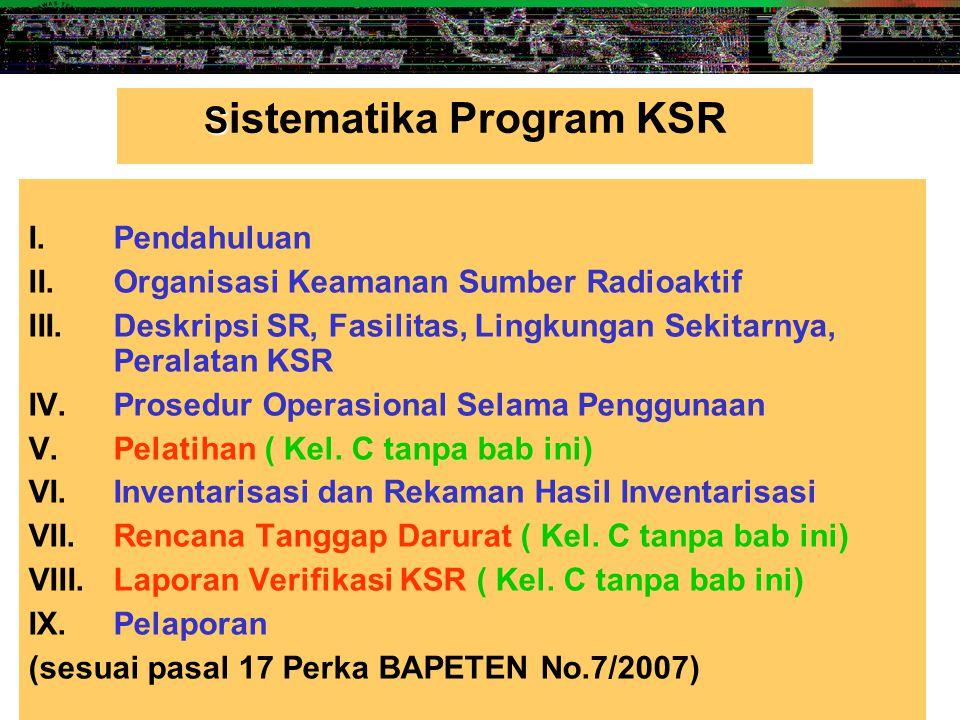 Sistematika Program KSR