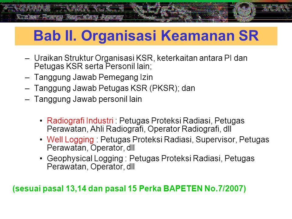 Bab II. Organisasi Keamanan SR