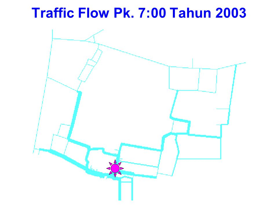 Traffic Flow Pk. 7:00 Tahun 2003
