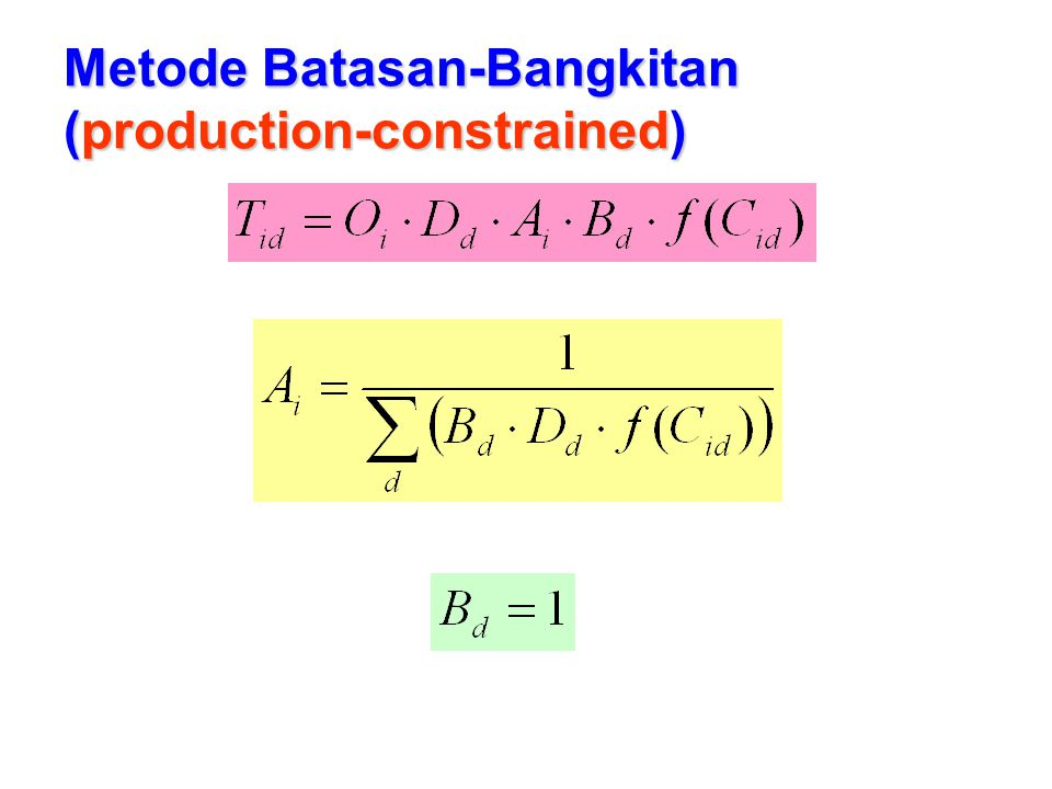 Metode Batasan-Bangkitan (production-constrained)
