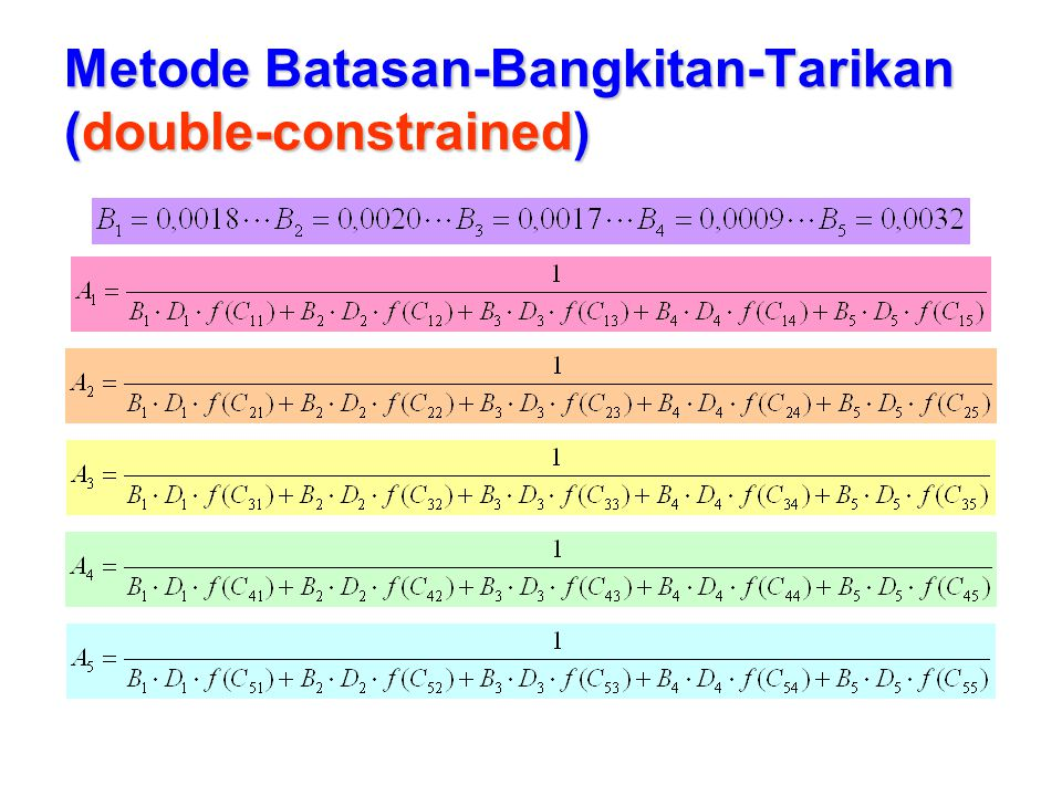 Metode Batasan-Bangkitan-Tarikan (double-constrained)