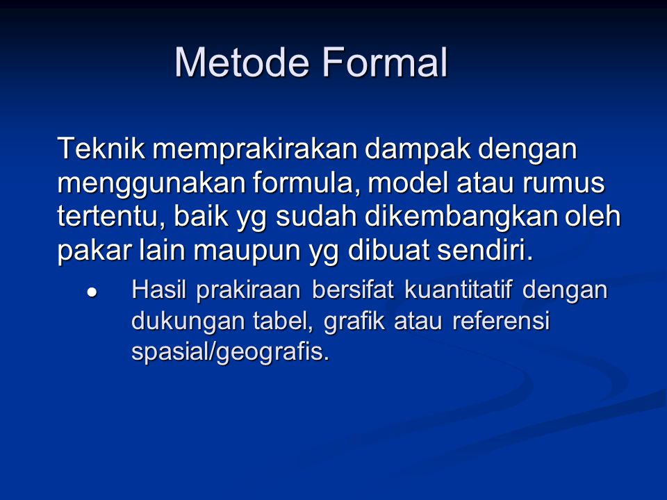 Metode Formal