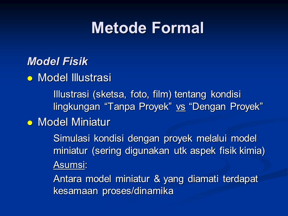 Metode Formal Model Fisik Model Illustrasi
