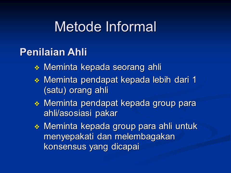 Metode Informal Penilaian Ahli Meminta kepada seorang ahli