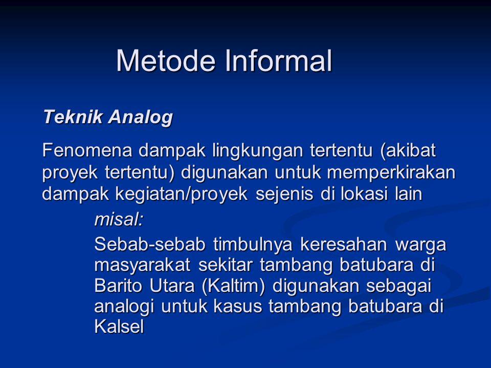 Metode Informal Teknik Analog