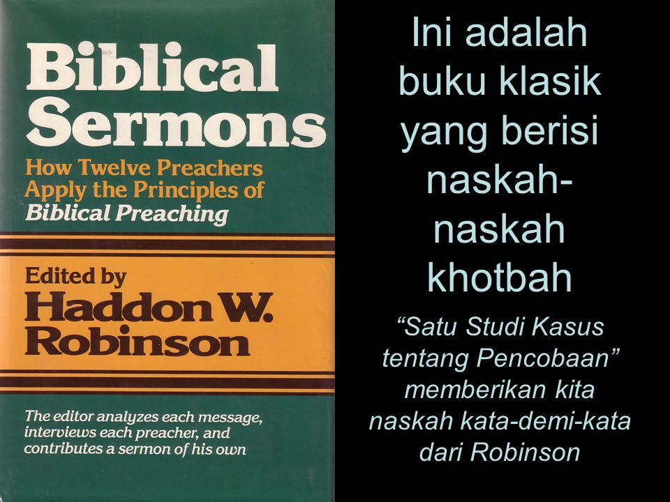 Ini adalah buku klasik yang berisi naskah-naskah khotbah