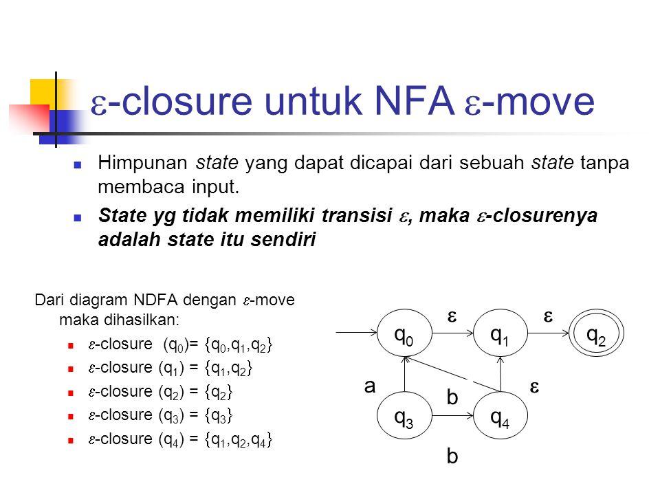 -closure untuk NFA -move