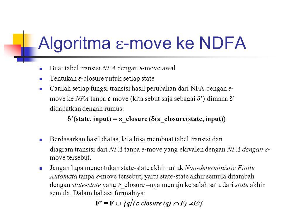 Algoritma ɛ-move ke NDFA