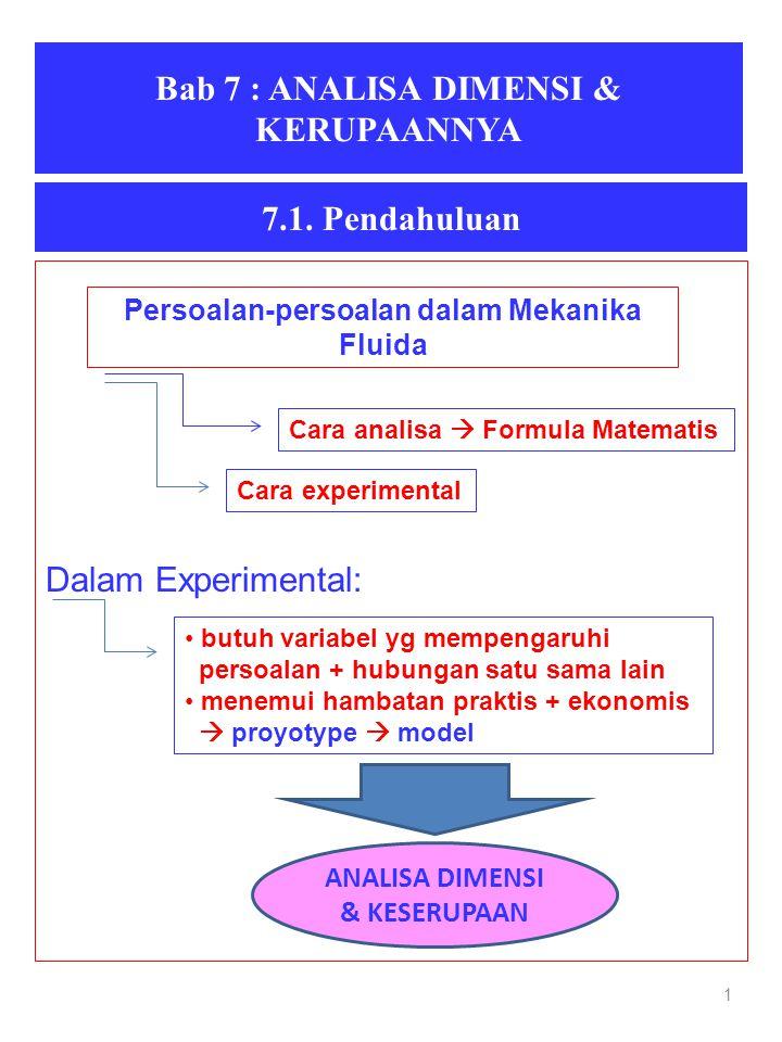 Bab 7 : ANALISA DIMENSI & KERUPAANNYA