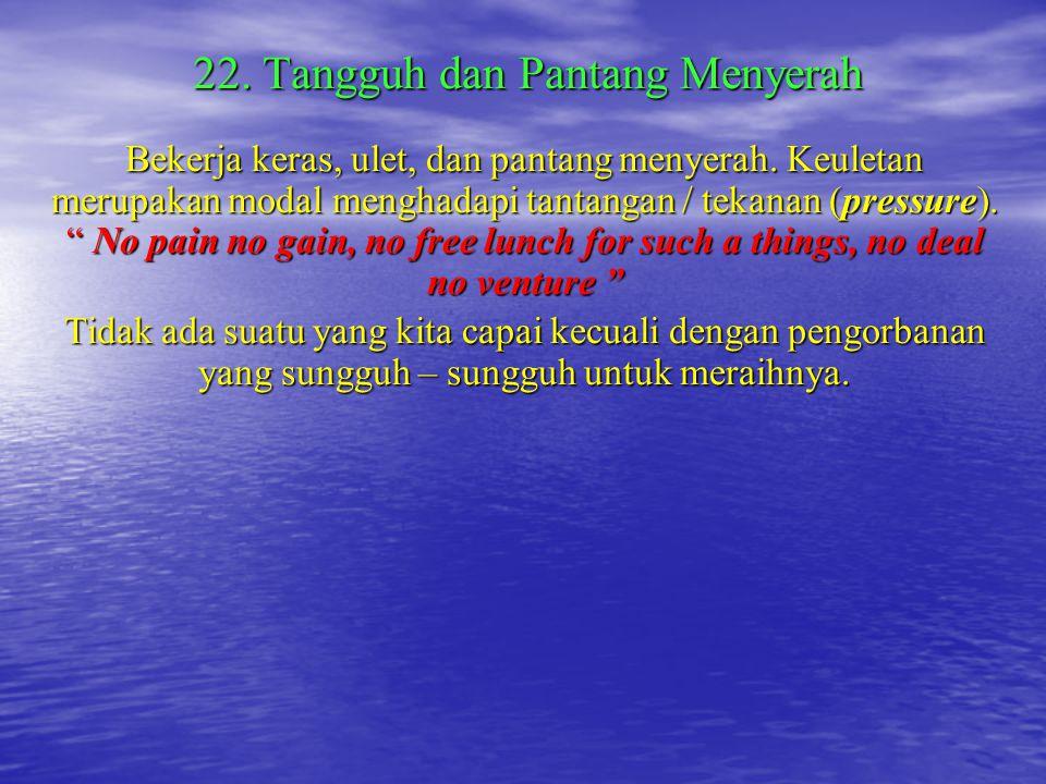 22. Tangguh dan Pantang Menyerah