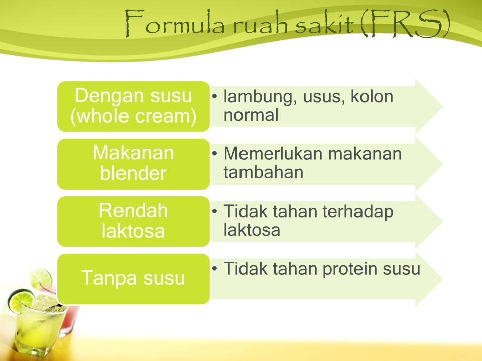 Formula ruah sakit (FRS)