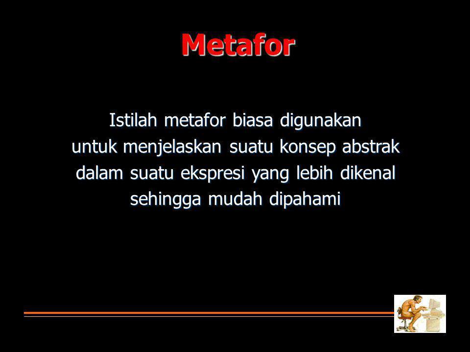 Metafor Istilah metafor biasa digunakan
