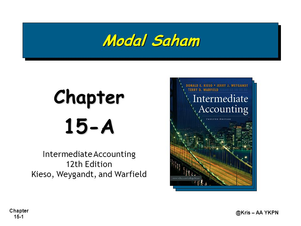 15-A Chapter Modal Saham Intermediate Accounting 12th Edition