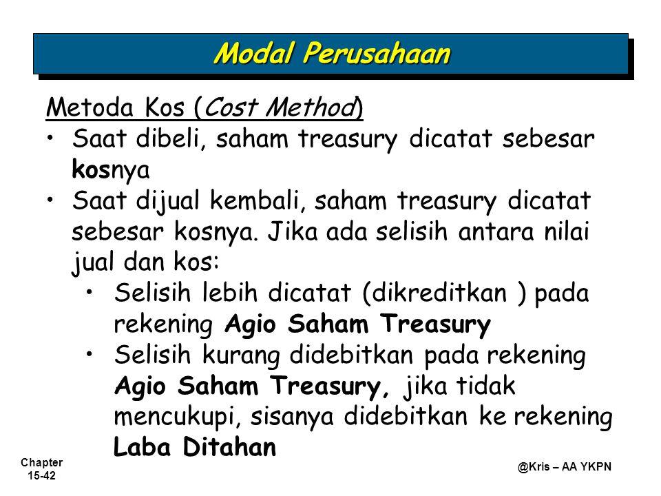 Modal Perusahaan Metoda Kos (Cost Method)
