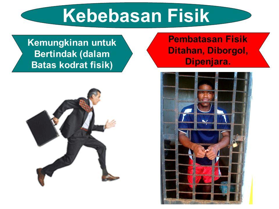 Kebebasan Fisik Pembatasan Fisik Kemungkinan untuk Ditahan, Diborgol,
