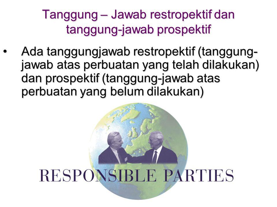 Tanggung – Jawab restropektif dan tanggung-jawab prospektif