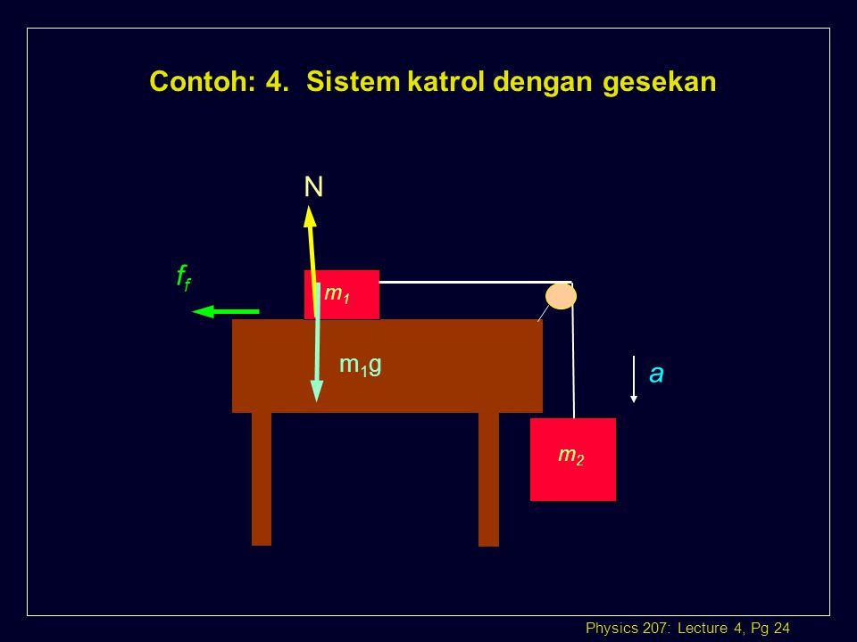 Contoh: 4. Sistem katrol dengan gesekan