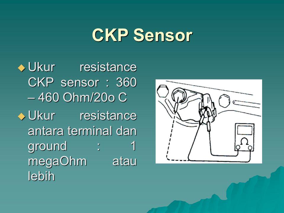 CKP Sensor Ukur resistance CKP sensor : 360 – 460 Ohm/20o C