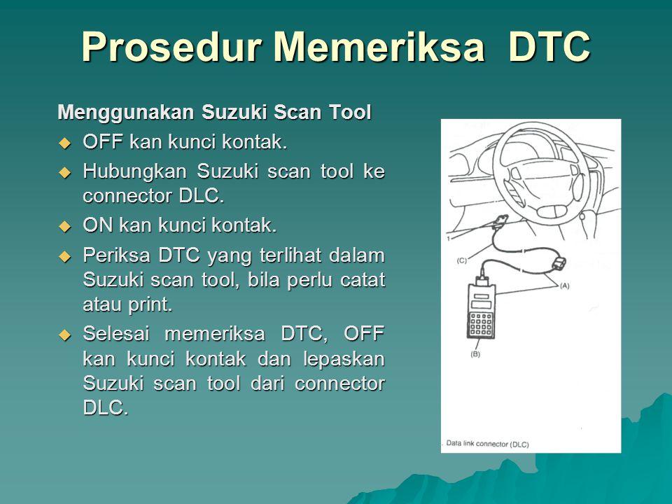 Prosedur Memeriksa DTC