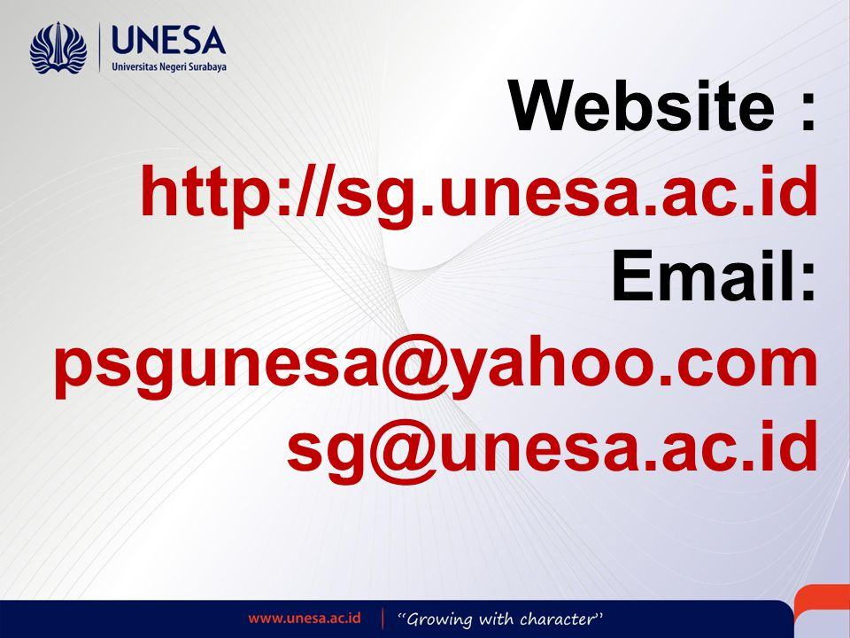 Website : http://sg.unesa.ac.id